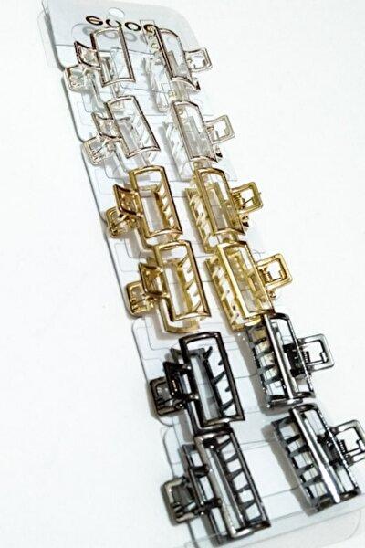 Metal Görünümlü Mandal Toka 12 Adet