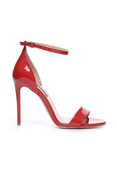 Hakiki Deri Kırmızı Kadın İnce Topuklu Ayakkabı 613 21884 BYN AYK