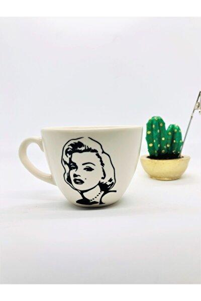 Marilyn Monroe Mat Krem Çay Fincanı