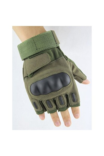 Tactical Askeri Kesik Parmak Kemik Eldiven Operasyon Eldiveni Haki