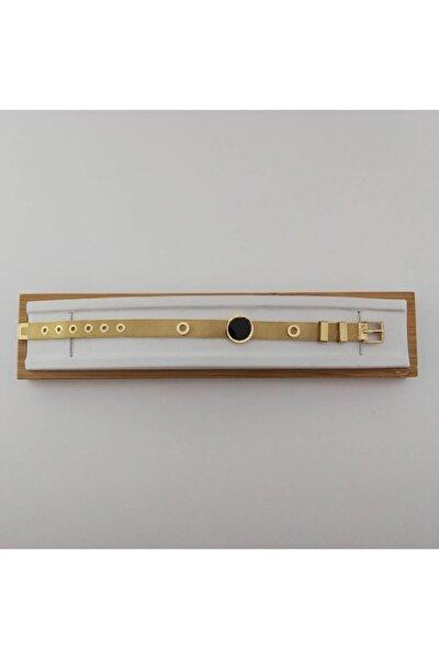 Çelik Hasır Saat Kordon, Sedefli, Roma Rakamlı Bileklik - Gold