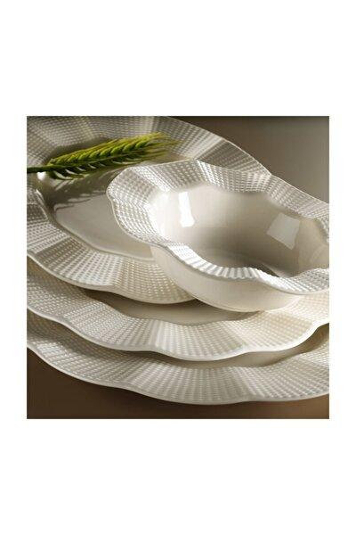 Milena Krem Porselen 24 Parça Yemek Takımı