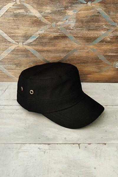 Siyah Fidel Castro Şapka, Kadın - Erkek Şapka, Avcı Şapkası