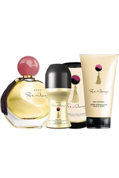 Far Away Kadın Parfüm Losyon Rollon Ve Vücut Pudrası Seti