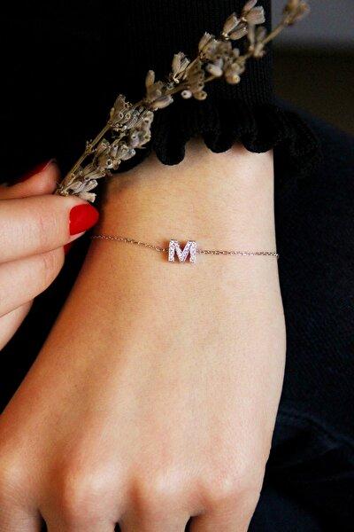 Gümüş M Harfi Bileklik