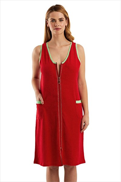 59492 Fermuarlı Havlu Elbise 59492
