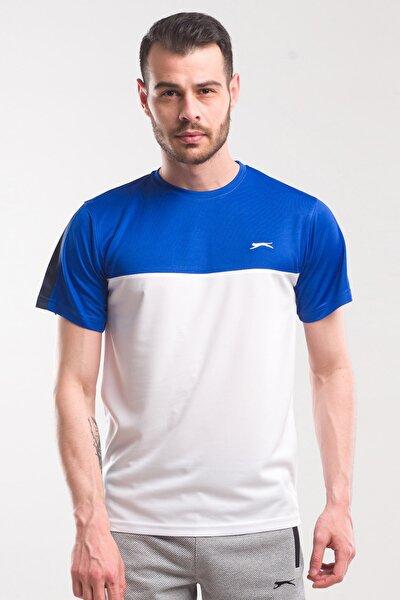 TEXAS Erkek T-Shirt Beyaz / Saks Mavi ST10TE143