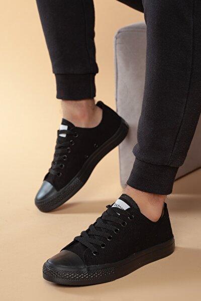 Siyah Günlük Ortopedik Erkek Keten Spor Ayakkabı  DXTRMCONT005