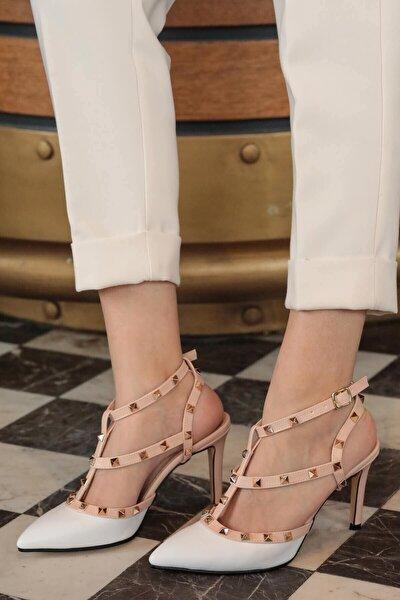 Tina Beyaz Topuklu Ayakkabı