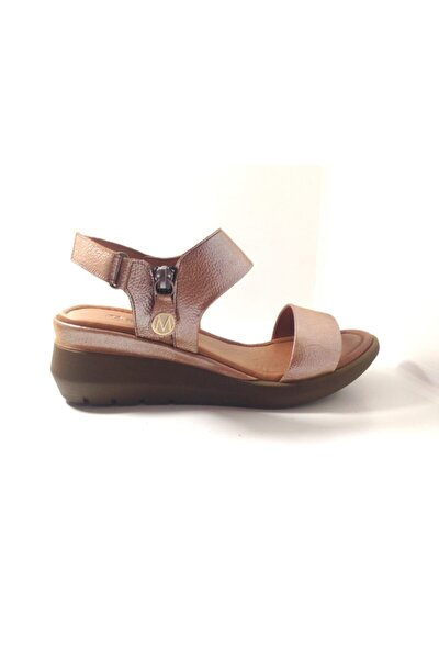 Kadın Sandalet 3941 Deri Taba