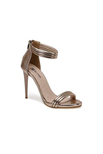 20S-119 Rose Gold Kadın Topuklu Sandalet 100517358