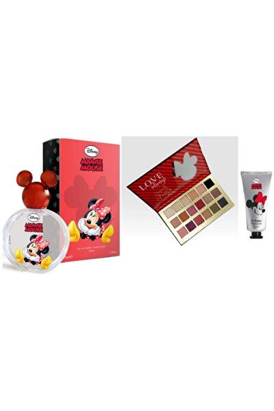 Mınnıe Mouse Parfüm 50 ml Far Paleti 18 Li El Kremi 50 ml