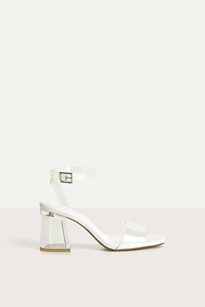 Kadın Transparan Vinil Detaylı Metakrilat Topuklu Sandalet. 11740660