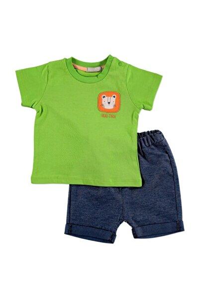 Yaz Erkek Bebek Safari Adventure Pamuklu Kısa Kol 2li Tshirt-Şort