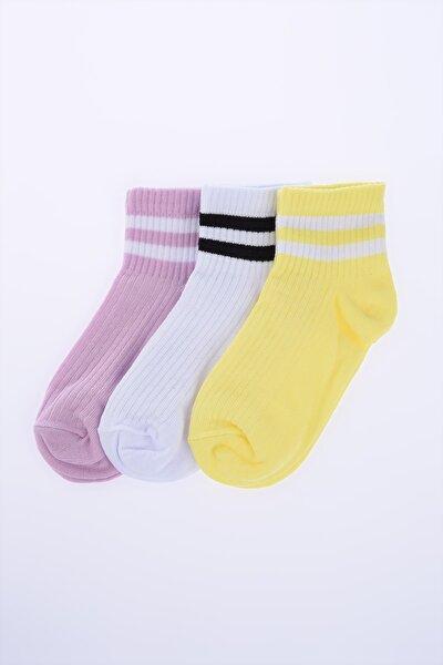 3'lü Paket Çizgili Çorap TWOSS20CO0054
