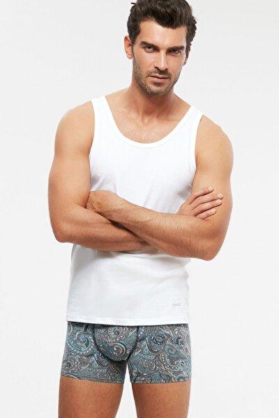 2'li Erkek Beyaz Scott Pamuklu Modal Likralı Atlet