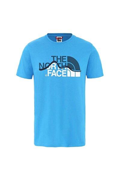 Mountain Line Erkek T-Shirt Mavi