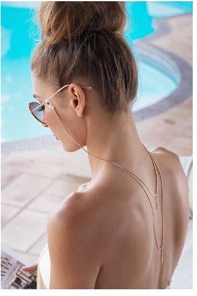 2 Katmanlı Trend Gözlük Aksesuarı - Sırt Kolyesi - Gözlük Zinciri