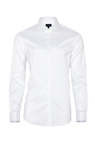 Non Iron Beyaz Twill Klasik Yaka Tailor Fit Gömlek