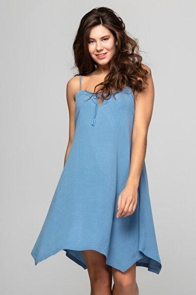 Fılızz Dress Kadın Mavi Plaj Elbisesi