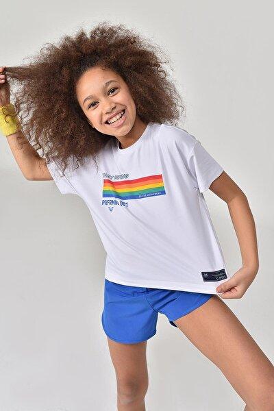Beyaz Kız Çocuk T-Shirt GS-8150