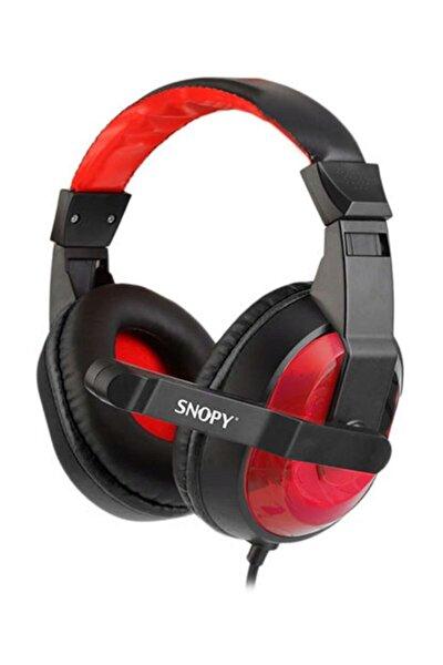 Sn-633 Siyah/Kırmızı Kulak Üstü Gaming Oyuncu Mikrofonlu Kulaklık