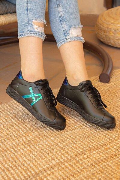 Siyah-Mavi Kadın Sneaker 4000-20-101015