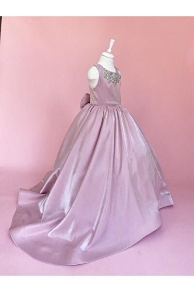 Taşlı Pembe Prenses Elbise