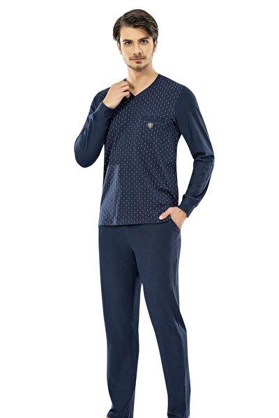 Yazlık Uzun Kol Pamuklu Pijama Takımı 6096