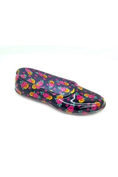 100698 Çiçek Desen Naylon   Ayakkabı