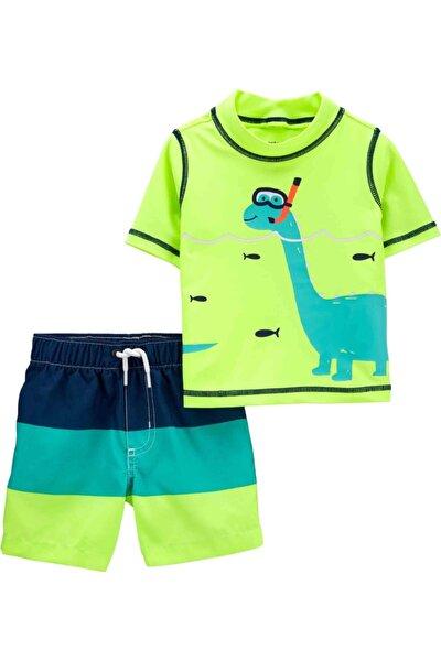 Erkek Bebek Yeşil Mayo Set