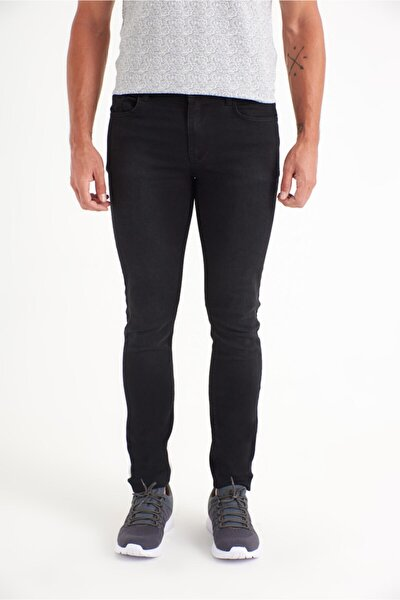 Erkek Siyah Slim Fit Jean Pantolon A01y3566