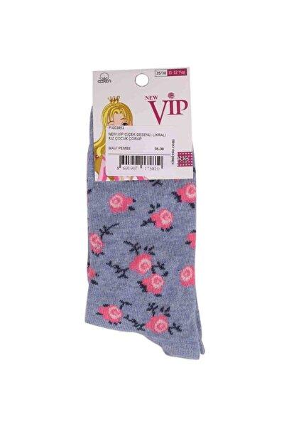 New Vip Likralı Çorap 935   Mavi