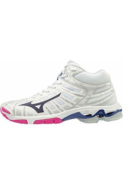 Wave Voltage Mid Kadın Voleybol Ayakkabısı Beyaz/pembe