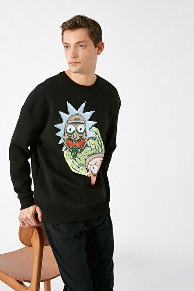 Erkek Siyah Sweatshirt 1KAM71138CK
