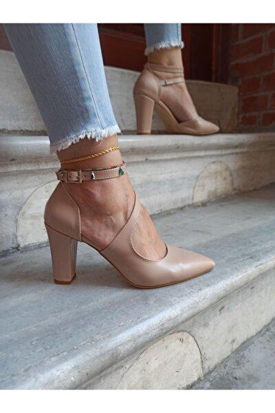 Kadın Ten Deri Modelli  Stiletto