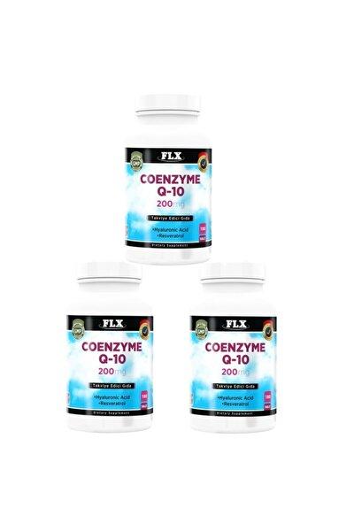 Coenzyme Q-10 200 Mg Hyaluronik Asit 180 Tablet X 3 Kutu