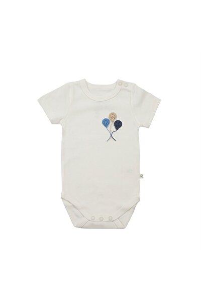 Bebek Beyaz Organik Kısa Kollu Body