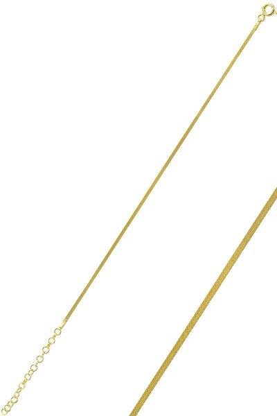 Gümüş Altın Rengi 1,4 Mm Kalınlığında Italyan Yassı Bileklik Sgtl10096gold