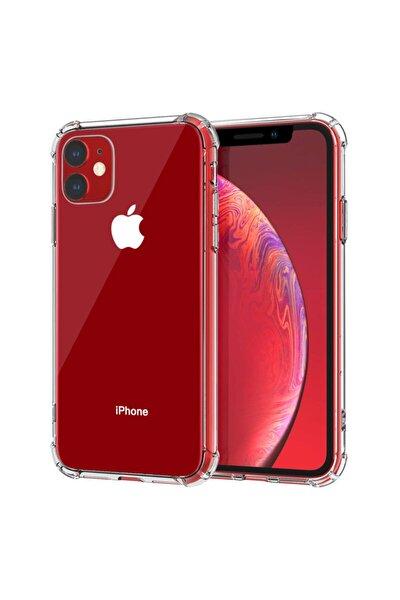 Apple Iphone 11 6.1'' Ince Şeffaf Airbag Anti Şok Silikon Kılıf