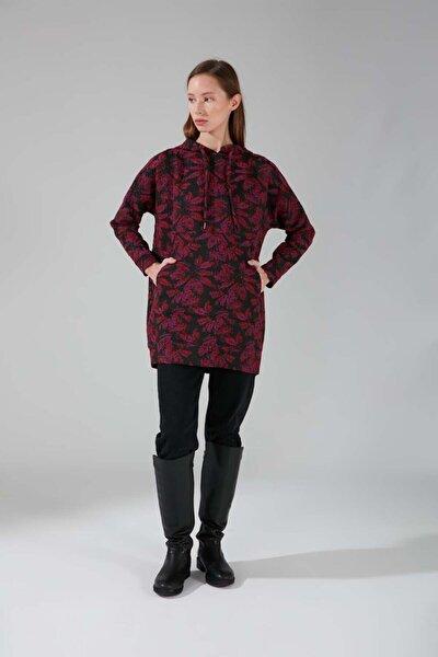 Kadın Mor Jakarlı Sweatshirt
