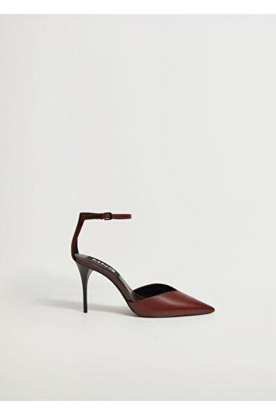 Kadın Bordo Topuklu Deri Ayakkabı