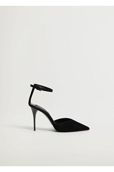 Kadın Siyah Topuklu Deri Ayakkabı