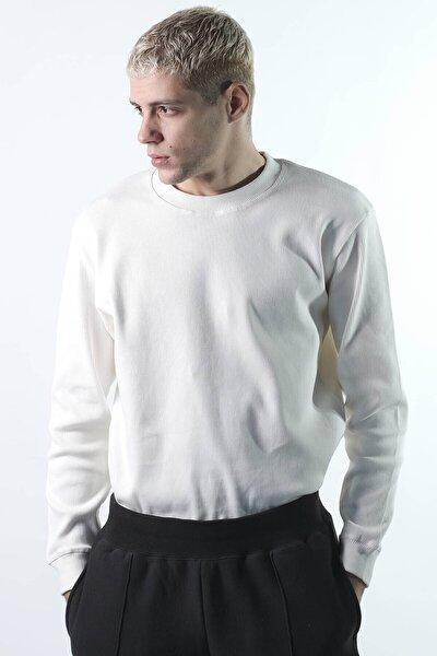 Unisex Beyaz Sweatshirt