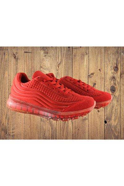 Erkek Kırmızı Rahat Dayanıklı Koşu Ayakkabısı
