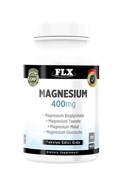 90 Tablet Magnezyum Elementleri Complex 400 Mg Bisglisinat Malat Taurat Glukonat