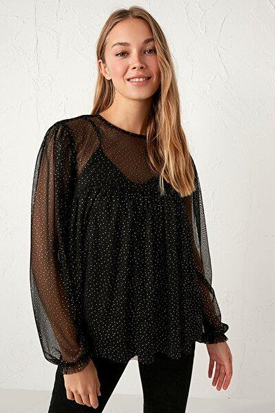 Kadın Yeni Siyah Bluz 0WFS13Z8