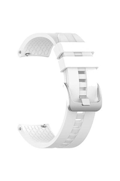 Huawei Watch Gt 2 Pro 46 Mm Uyumlu Silikon Kordon Kayış Beyaz