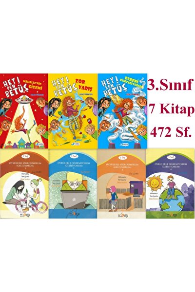 3. Sınıf Eğlenceli, Muhteşem Maceralı Set 7 Kitap