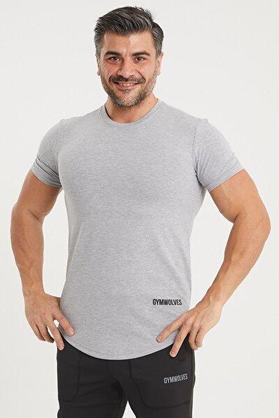 Spor Erkek T-shirt   Gri   T-shirt   Workout Tanktop   Never Give Up  